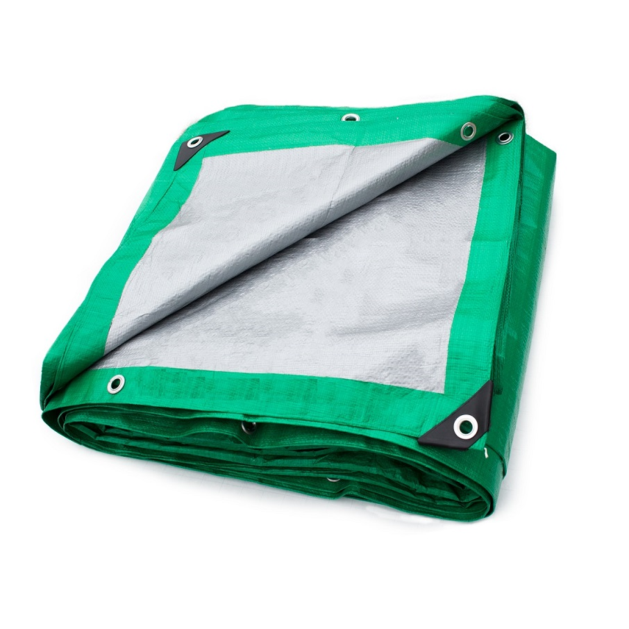 Plandeki okryciowe srebrno-zielone - PP 130 g/m2